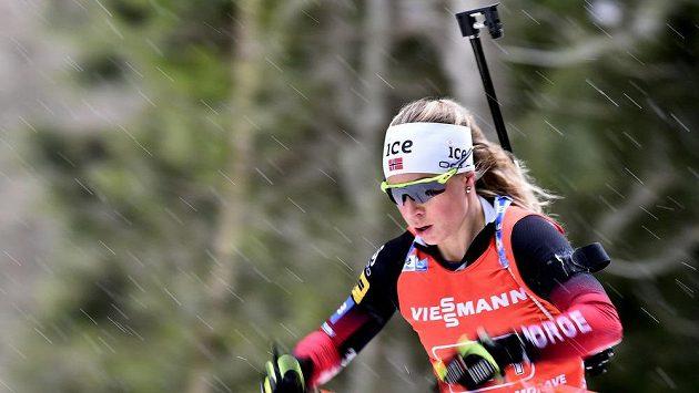 Norská biatlonistka Tirill Eckhoffová.