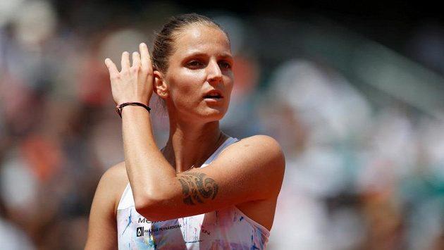 Česká tenisová jednička Karolína Plíšková v Paříži nečekaně brzy dohrála.
