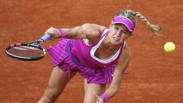 Kanadská tenistka Eugenie Bouchardová v prvním kole Roland Garros, které se pro ni letos stalo konečnou.