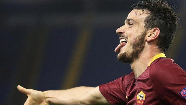 Alessandro Florenzi slaví svoji trefu v utkání Evropské ligy proti Austrii Vídeň.