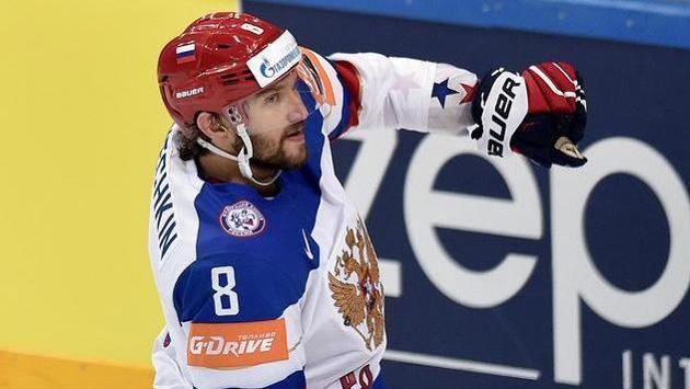 Alexandr Ovečkin v dresu ruské sborné.