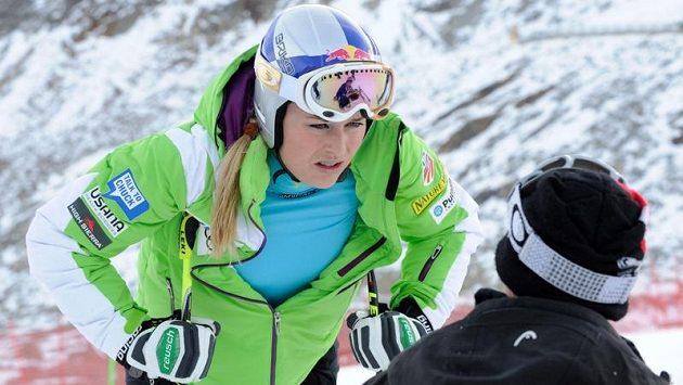 Americká lyžařka Lindsey Vonnová.