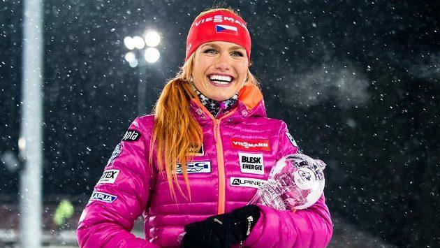 Biatlonistka Gabriela Soukalová vybojovala ve sprintu v ruském Chanty-Mansijsku druhé místo a získala podruhé v kariéře malý křišťálový glóbus za celkové prvenství v disciplíně.