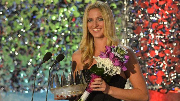 Vítězka novinářské ankety Sportovec roku 2014 Petra Kvitová.