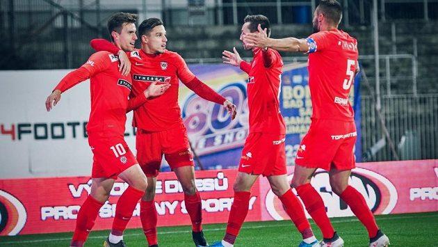 Radost fotbalistů Zbrojovky
