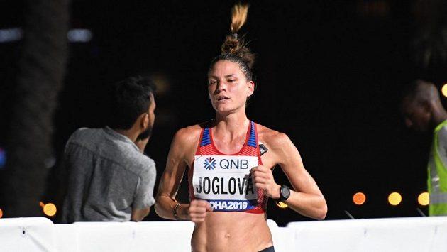 Marcela Jolgová na trati maratonu v Dauhá. Ilustrační foto.