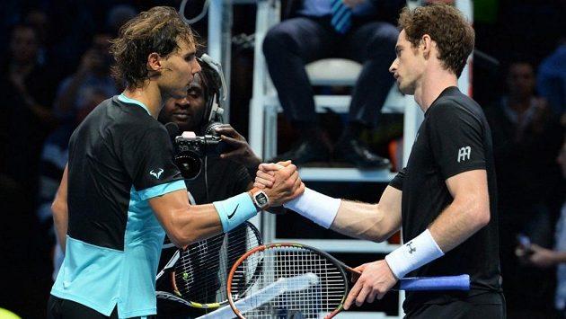 Rafael Nadal (vlevo) a Andy Murray.