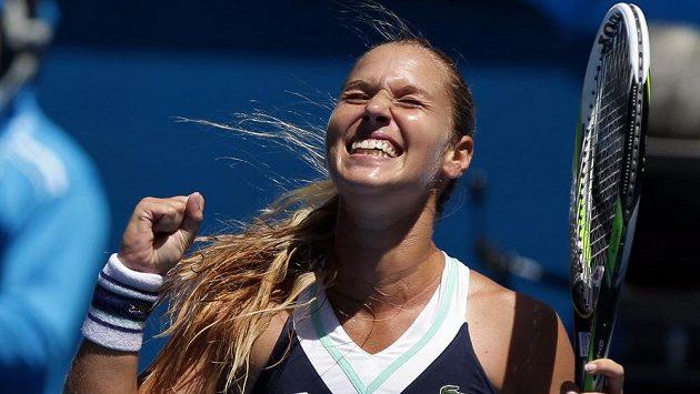 Nadšení ve tváři Dominiky Cibulkové, která si poprvé v kariéře zahraje semifinále Australian Open.