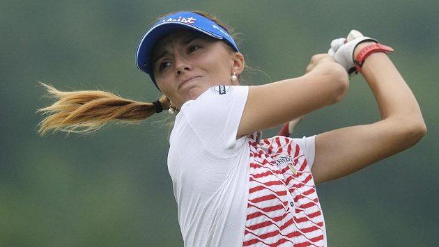 Odpal Kláry Spilkové na turnaji série Ladies European Tour v Dýšině u Plzně.