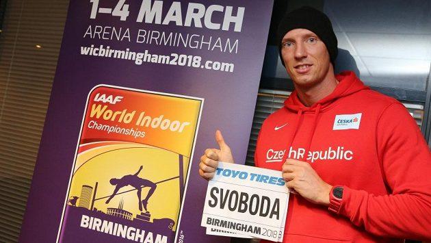 Překážkář Petr Svoboda na halovém mistrovství světa v Birminghamu.