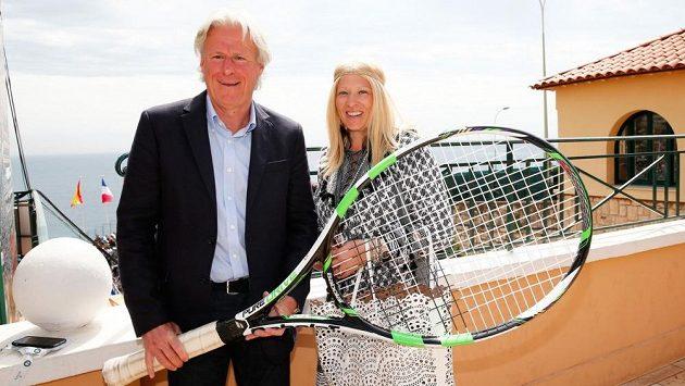 Legendární tenista Björn Borg se svojí třetí manželkou Patricií Ostfeldtovou.