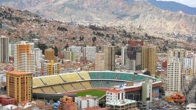 Stadión Hernanda Silese v bolivijském městě La Paz. Ilustrační snímek.