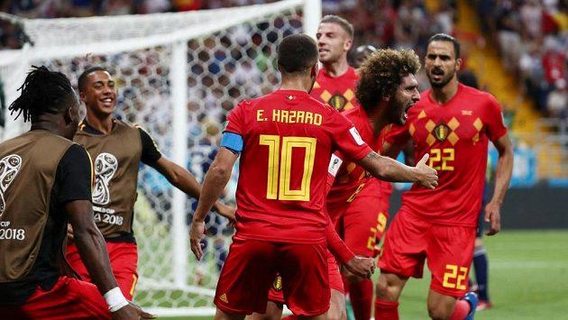 Belgická radost propukla naplno poté, co Marouane Fellaini srovnal.