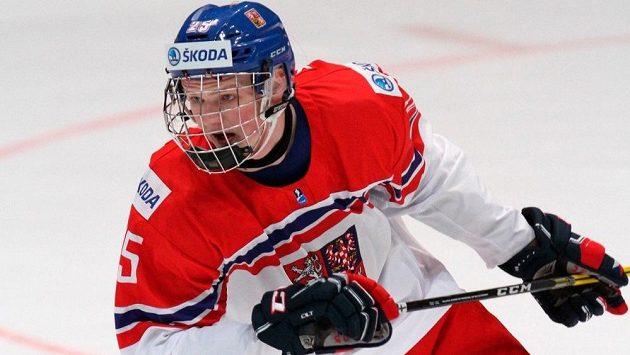 Jáchym Kondelík během mistrovství světa hráčů do osmnácti let.