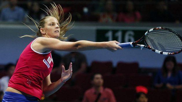 Česká tenistka Karolína Plíšková na snímku z exhibiční ligy IPTL v Singapuru.
