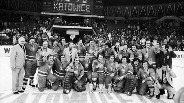 Zlatý československý tým na MS v Katovicích 1976.