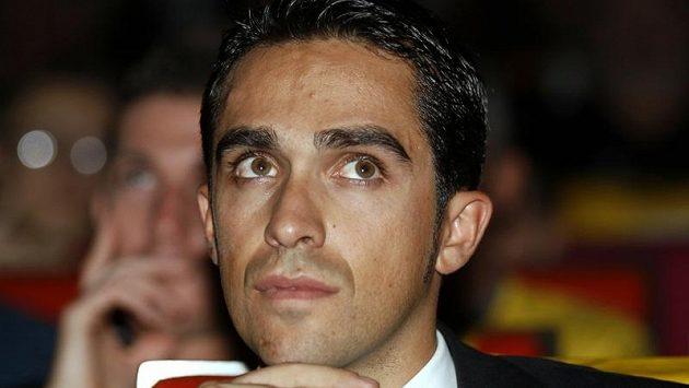 Španělský cyklista Alberto Contador v Paříži u příležitosti představení trasy příštího ročníku Tour de France.