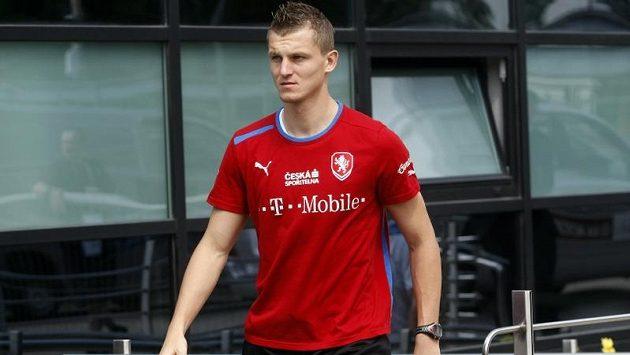 Tomáš Necid na tréninku české reprezentace.