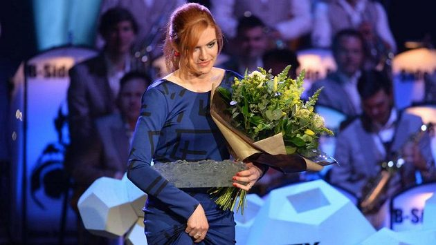 Gabriela Soukalová po vyhlášení biatlonistkou roku.