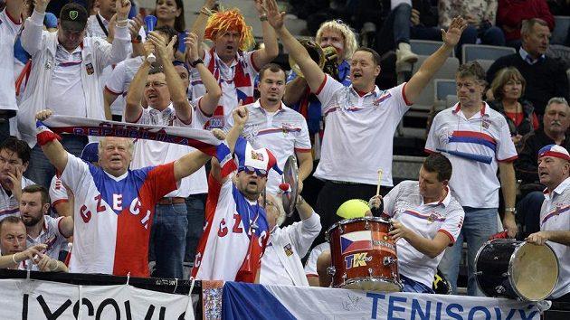 Fanoušci českého týmu.
