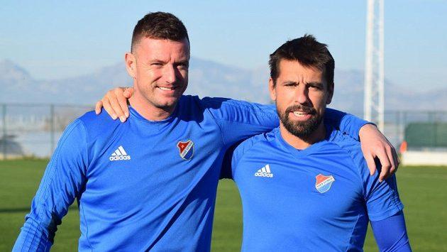 Jan Laštůvka (vlevo) a Milan Baroš.