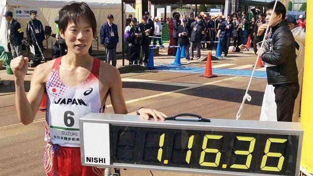 Japonec Jusuke Suzuki časem 1:16:36.