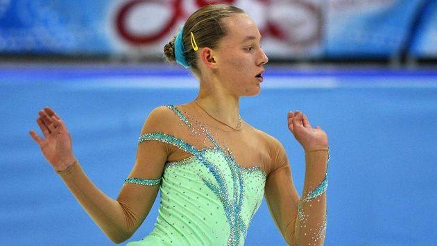 Elizaveta Ukolová při republikovém šampionátu v Bratislavě.