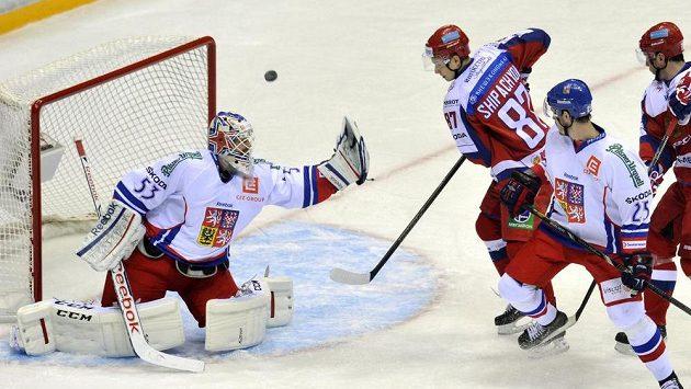 Český brankář Alexander Salák byl vyhlášen nejlepším gólmanem turnaje Channel One Cup.