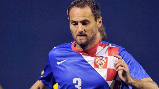 Chorvatský fotbalista Josip Šimunič.
