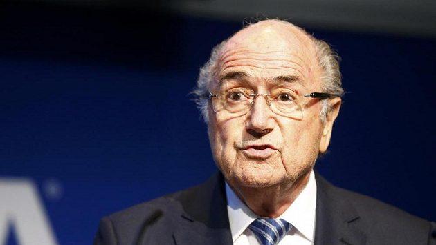 Prezident FIFA Sepp Blatter v den, kdy ohlásil odstoupení.