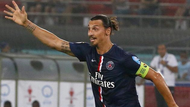Hvězda Paris St. Germain Zlatan Ibrahimovic.
