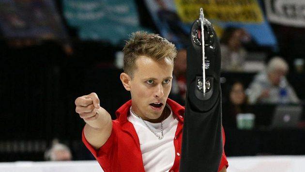 Michal Březina během krátkého programu na Grand Prix v Las Vegas.