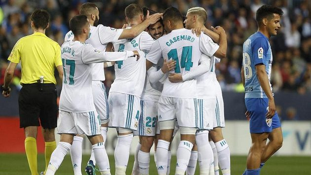 Fotbalisté Realu Madrid vyhráli nad Málagou i bez Cristiana Ronalda. O góly se postarali Isco a Casemiro.