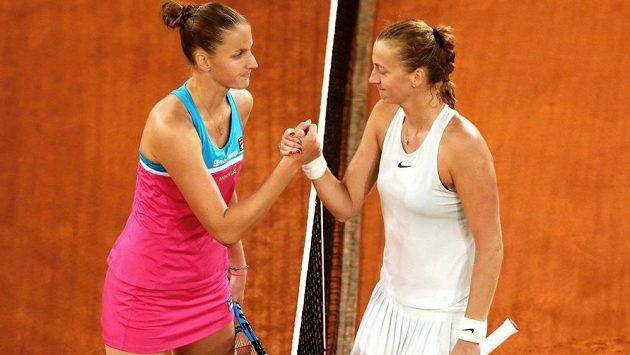 Petra Kvitová (vpravo) a Karolína Plíšková. Potkají se tyto hráčky ve finále Australian Open?
