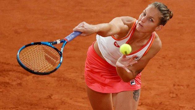 Karolína Plíšková na letošním French Open. Hrát má i v Ostravě.