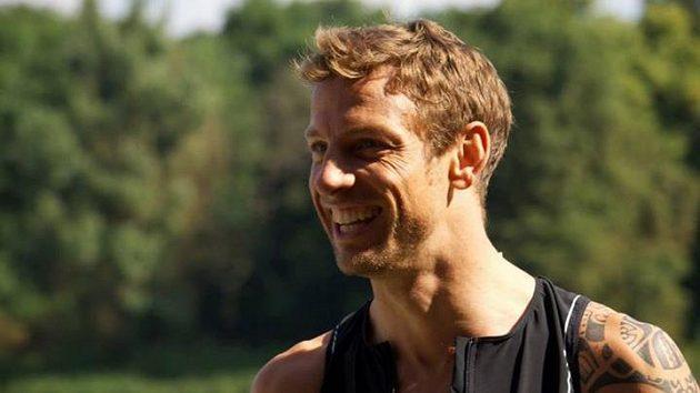 Jenson Button není jen jezdec formule 1, ale i běžec a triatlonista.