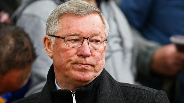 Rozladěný Alex Ferguson, kouč fotbalistů Manchesteru United.