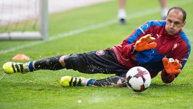 Brankář Brém a české fotbalové reprezentace Jaroslav Drobný.