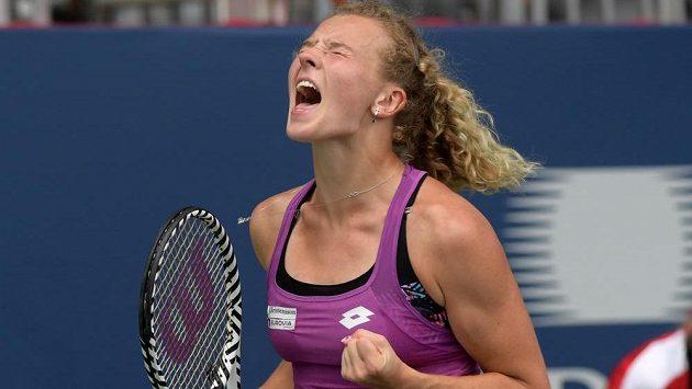 Kateřina Siniaková na snímku z turnaje v Torontu.