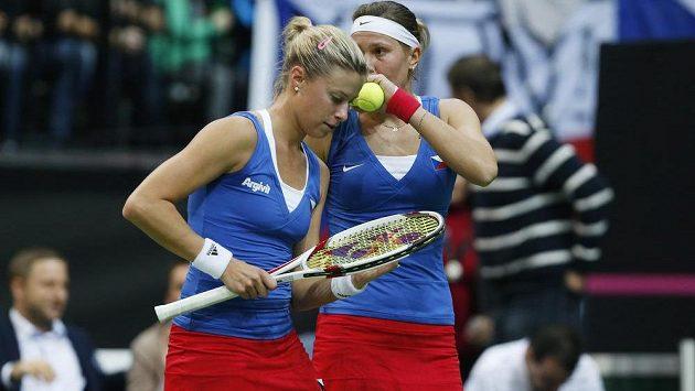 Deblová dvojice Andrea Hlaváčková a Lucie Hradecká