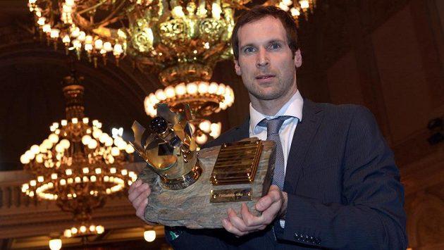 Brankář Petr Čech, vítěz ankety Fotbalista roku 2013.