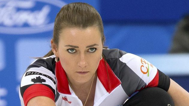 Kanadská curlerka Emma Miskewová na MS.