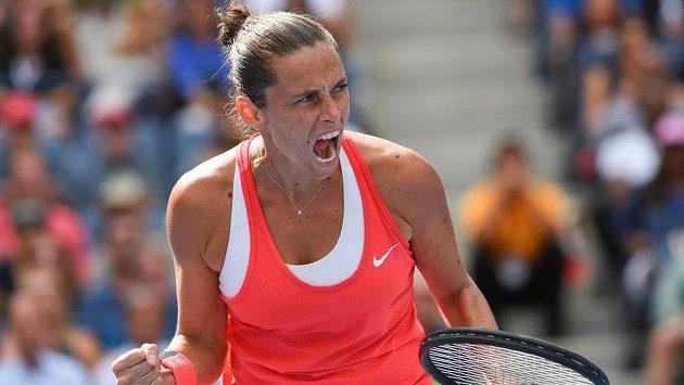Roberta Vinciová v semifinále US Open nečekaně zdolala Serenu Williamsovou.