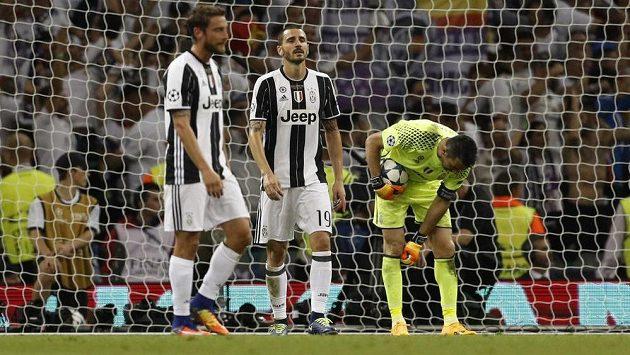 Velké zklamání bylo patrné z tváří hráčů Juventusu.