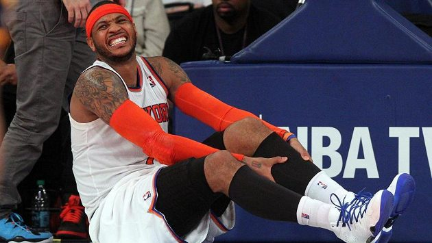 Basketbalista New Yorku Knicks Carmelo Anthony.