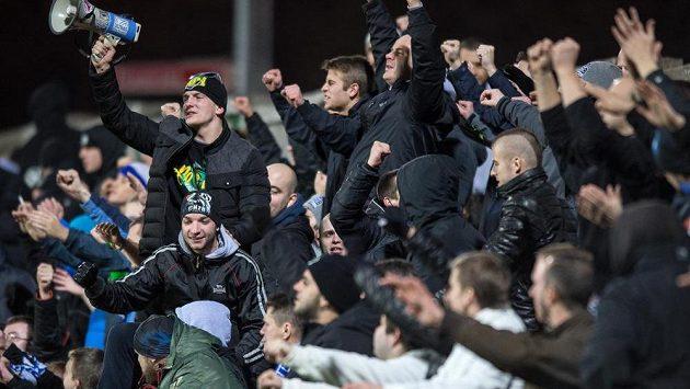 Fanoušci Baníku Ostrava.