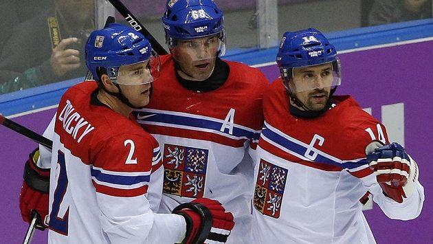 Čeští hokejisté si o postup do čtvrtfinále zahrají se Slováky.