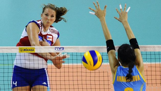 Zleva Aneta Havlíčková z ČR a Sana Anarkulovová z Kazachstánu.