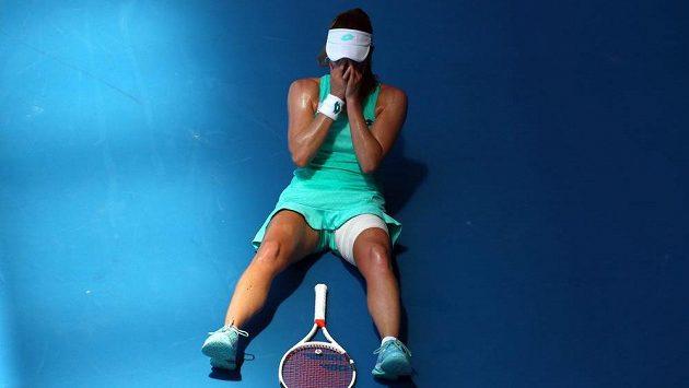 Francouzska Alizé Cornetová na Australian Open.