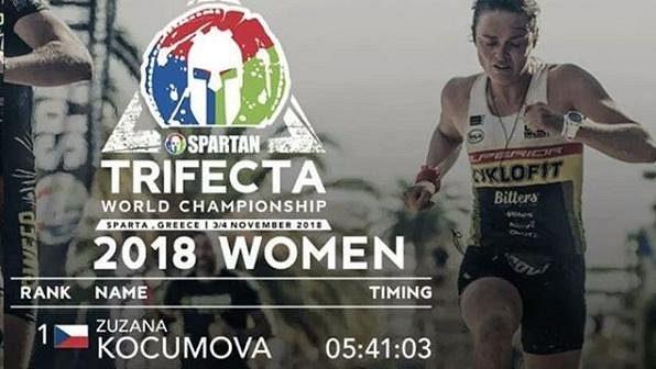 Zuzana Kocumová je mistryní světa v trifektě Spartan Race.
